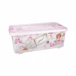 Bērnu rotaļu kaste 75L Roza 760x410x290