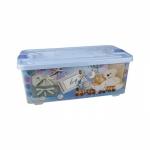 Bērnu rotaļu kaste 75L Zīla 760x410x290