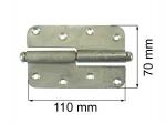 Durvju enģe 110mm labā cinkota