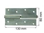 Durvju enģe 130mm kreisā cinkota
