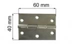 Durvju enģe 60mm cinkota