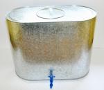 Ūdens tvertne 100Lcinkotas skards 67x53x33/0.55mm